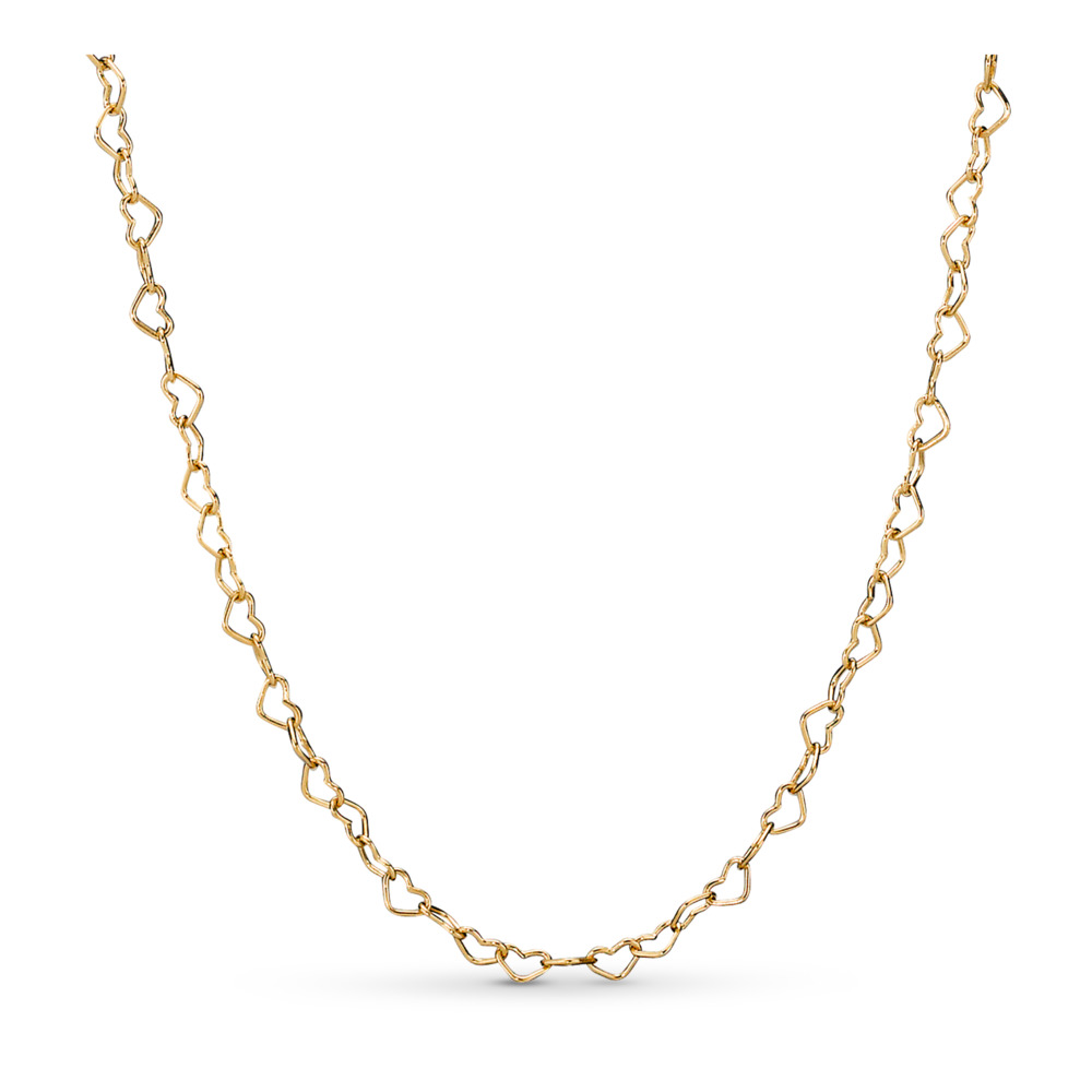 Joined Hearts Necklace Pandora Shine™, 18ct Gold Plated - PANDORA - #367961