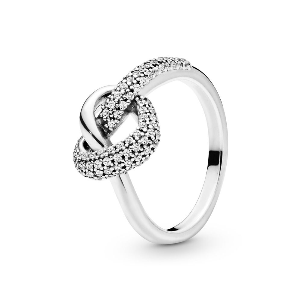 Knotted Heart Ring, Sterling silver, Cubic Zirconia - PANDORA - #198086CZ