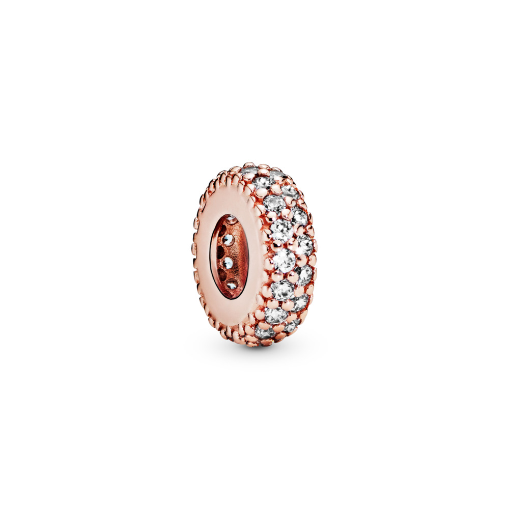 Inspiration Within Spacer, PANDORA Rose™ & Clear CZ, PANDORA Rose, Cubic Zirconia - PANDORA - #781359CZ