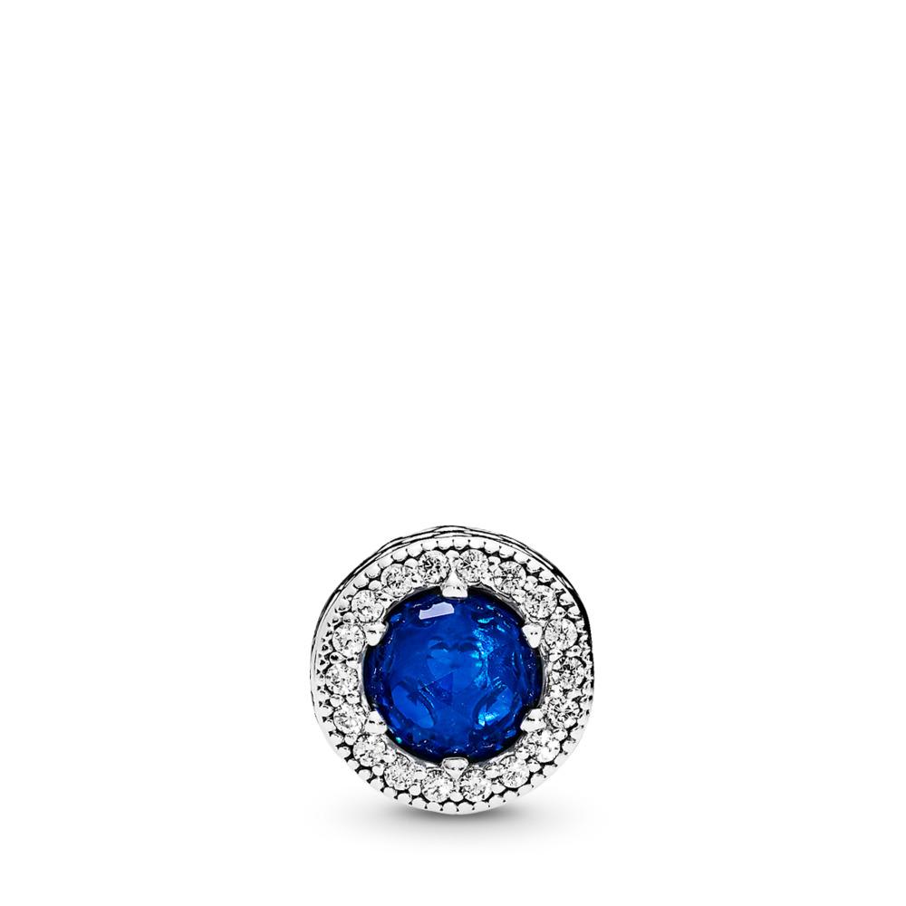 판도라 PANDORA PEACE Charm, Royal Blue Crystals & Clear CZ Sterling silver, Silicone, Blue, Mixed stones