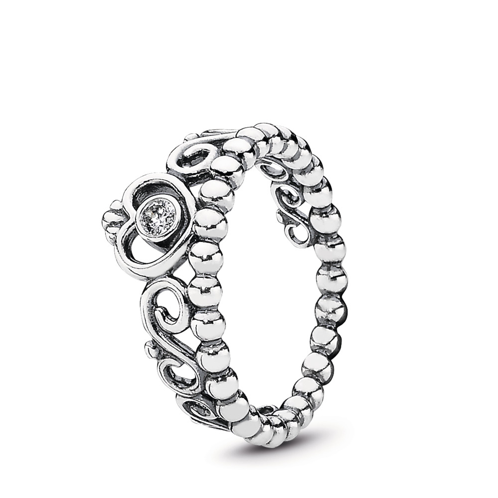 판도라 PANDORA My Princess Stackable Ring, Clear CZ Sterling silver, Cubic Zirconia