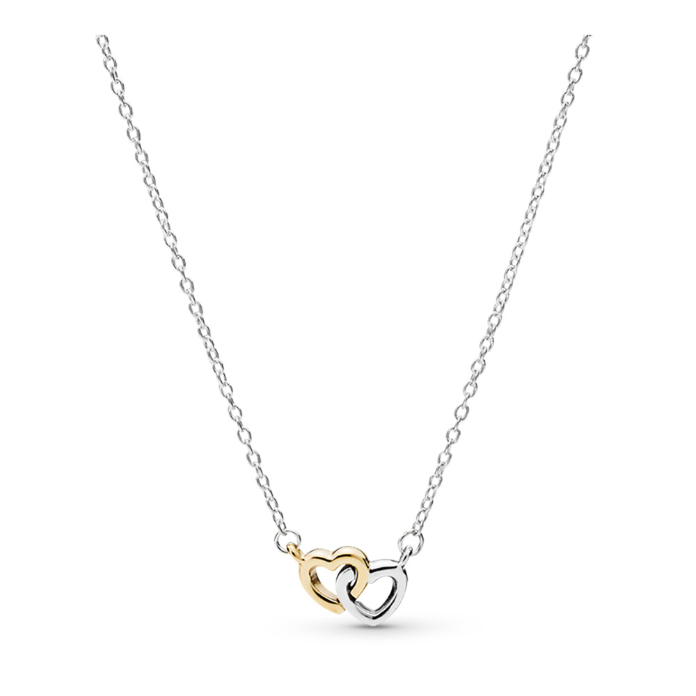 United in Love Necklace, Two Tone - PANDORA - #590517