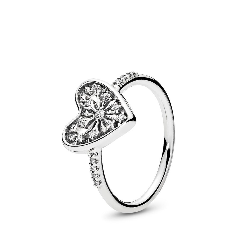 Heart of Winter Ring, Clear CZ, Sterling silver, Cubic Zirconia - PANDORA - #196371CZ