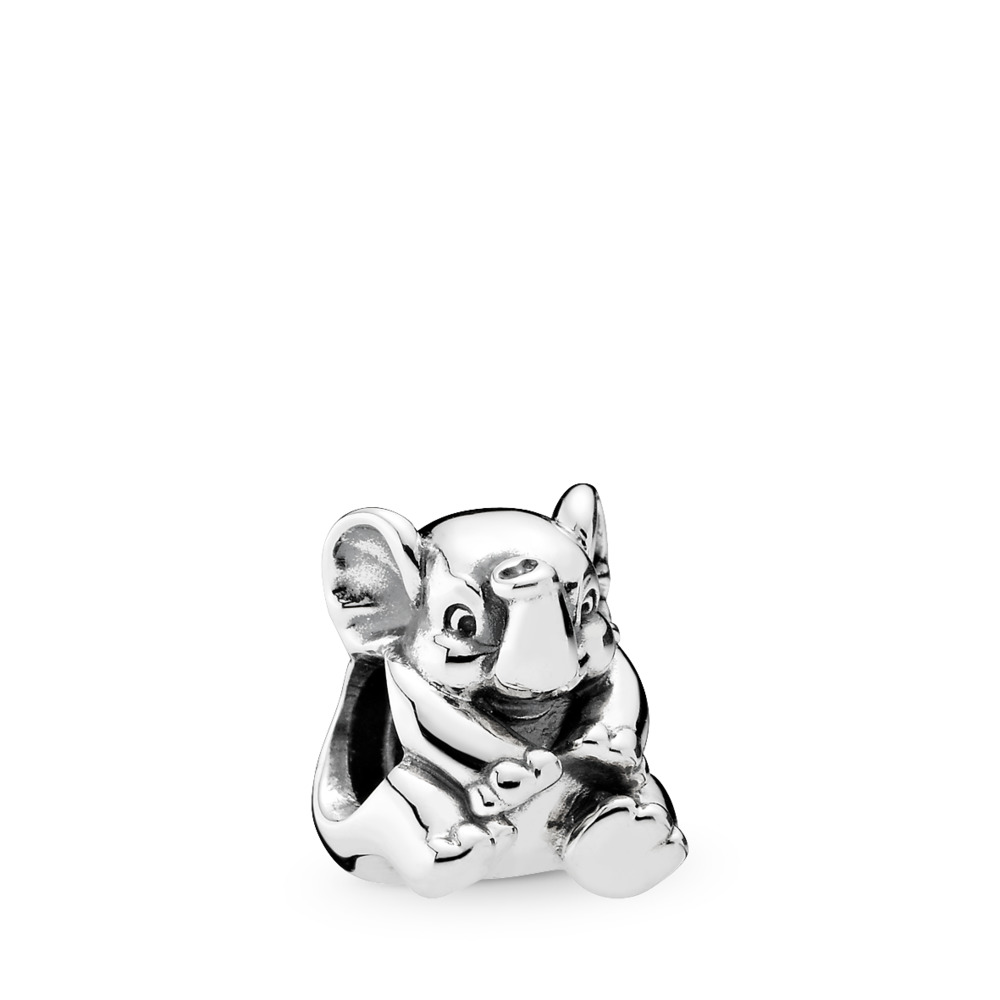 Lucky Elephant Charm, Sterling silver - PANDORA - #791902
