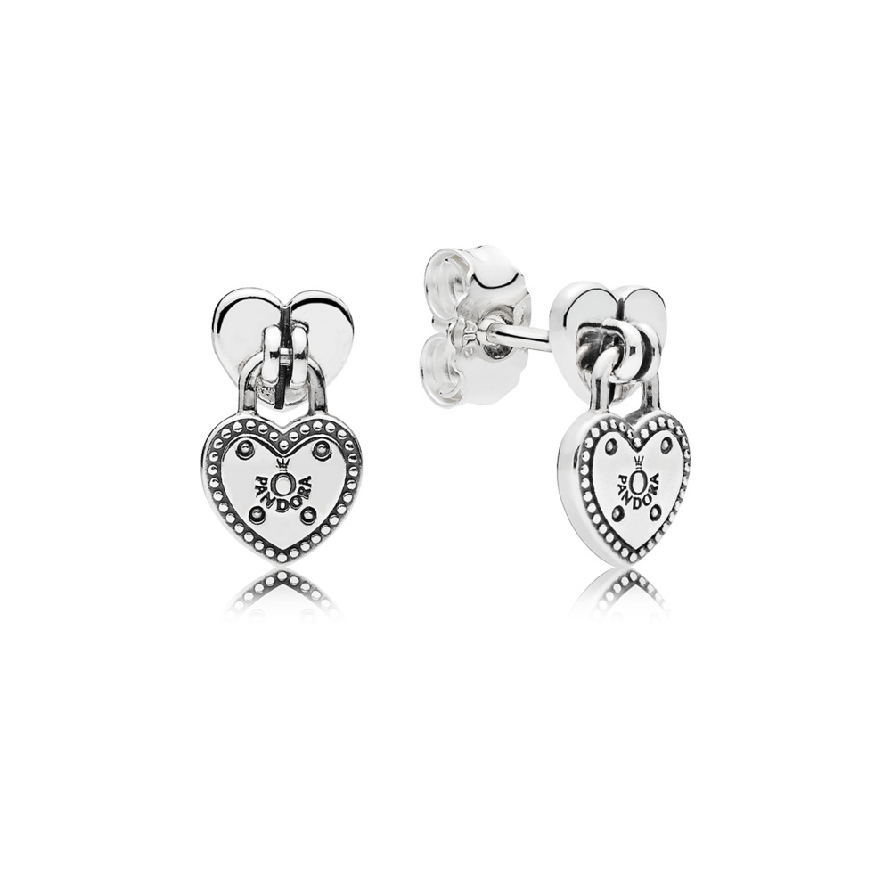 판도라 PANDORA Love Locks Stud Earrings Sterling silver
