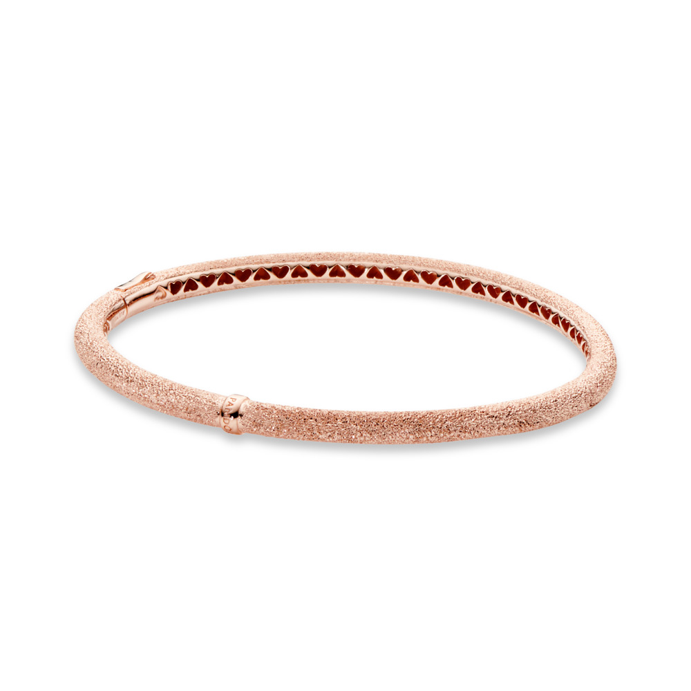 Matte Brilliance Bangle Bracelet, Pandora Rose™, PANDORA Rose - PANDORA - #587915