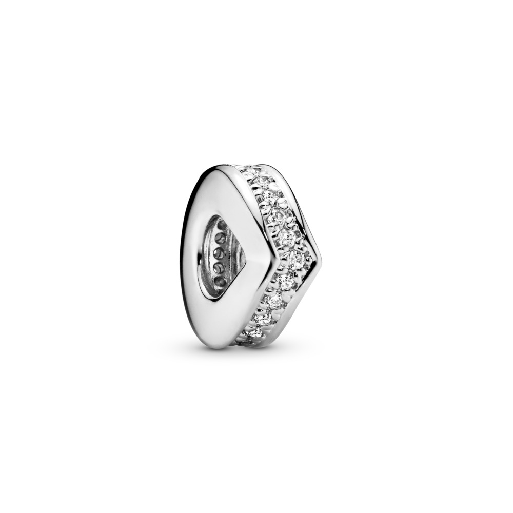 Shimmering Wish Spacer, Clear CZ, Sterling silver, Cubic Zirconia - PANDORA - #797808CZ