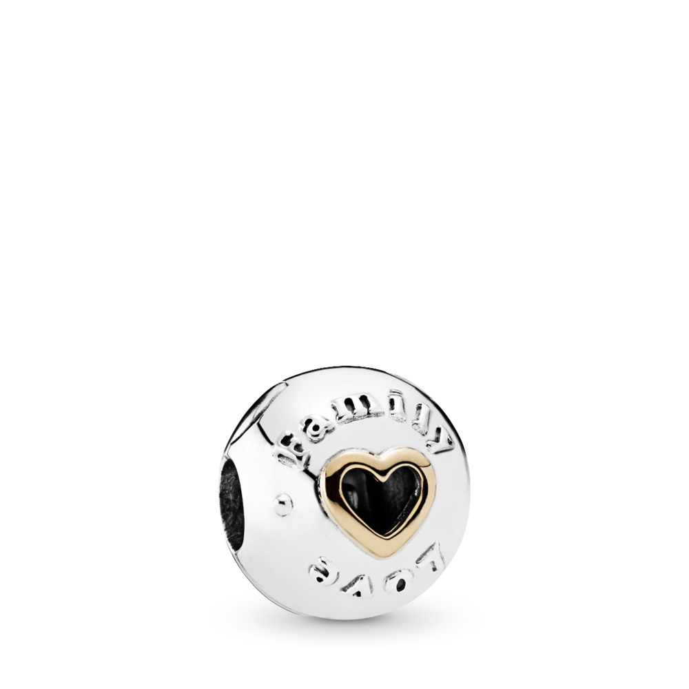 Family & Love Clip, Two Tone - PANDORA - #792110