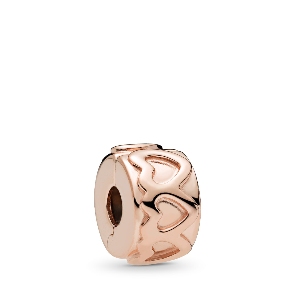 Row of Hearts Clip, PANDORA Rose™, PANDORA Rose - PANDORA - #781978
