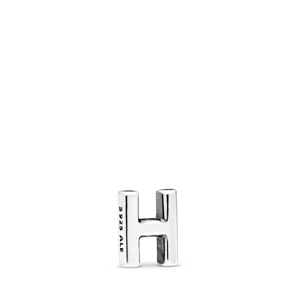 Letter H Petite Locket Charm, Sterling silver - PANDORA - #797326