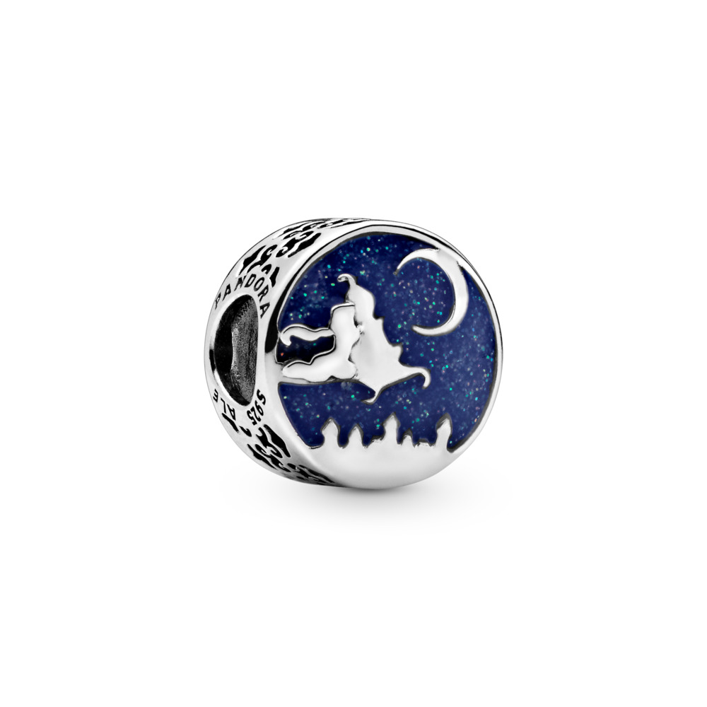 Disney, Magic Carpet Ride Charn, Sterling silver, Enamel, Blue - PANDORA - #798039ENMX