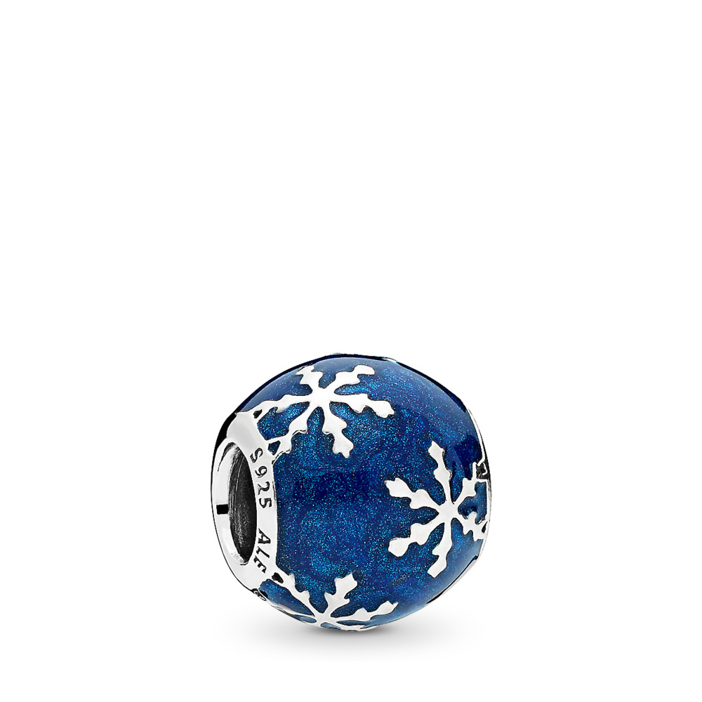 Wintry Delight Charm, Midnight Blue Enamel, Sterling silver, Enamel, Blue - PANDORA - #796357EN63