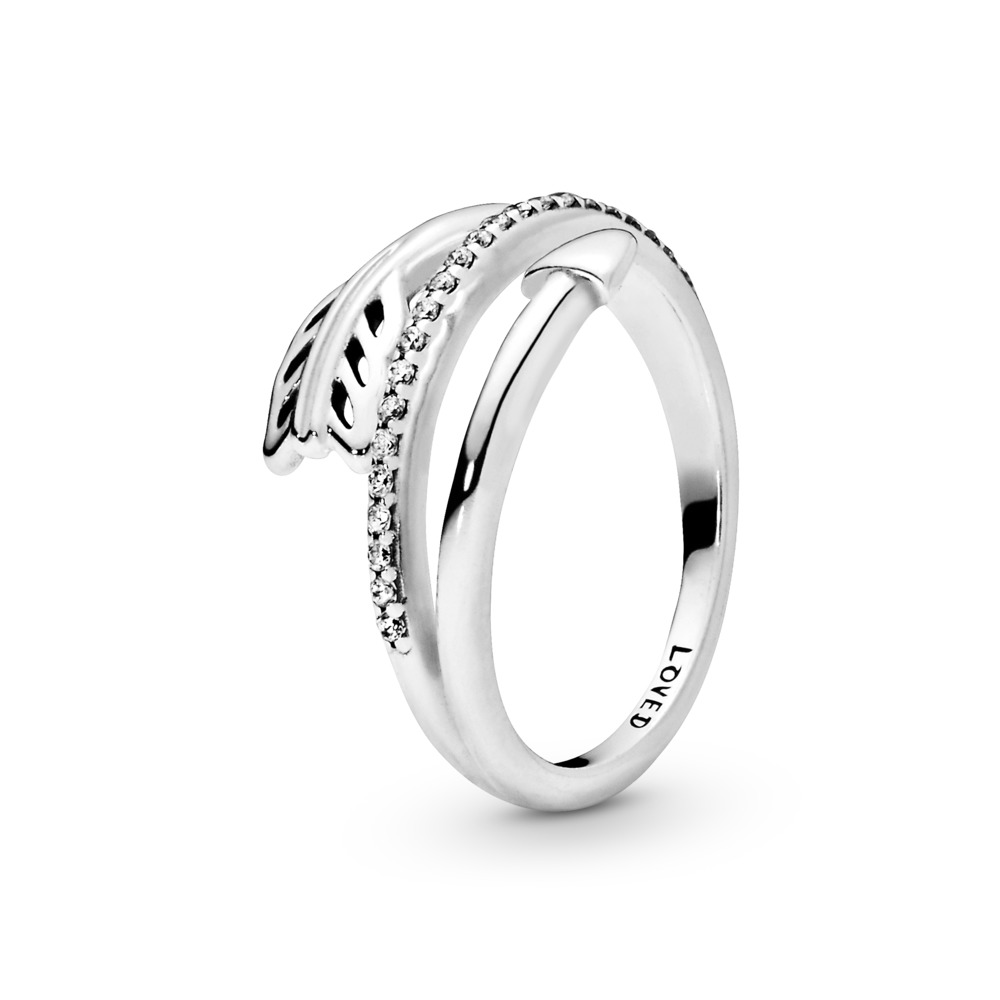 Sparkling Arrow Ring, Clear CZ, Sterling silver, Cubic Zirconia - PANDORA - #197830CZ