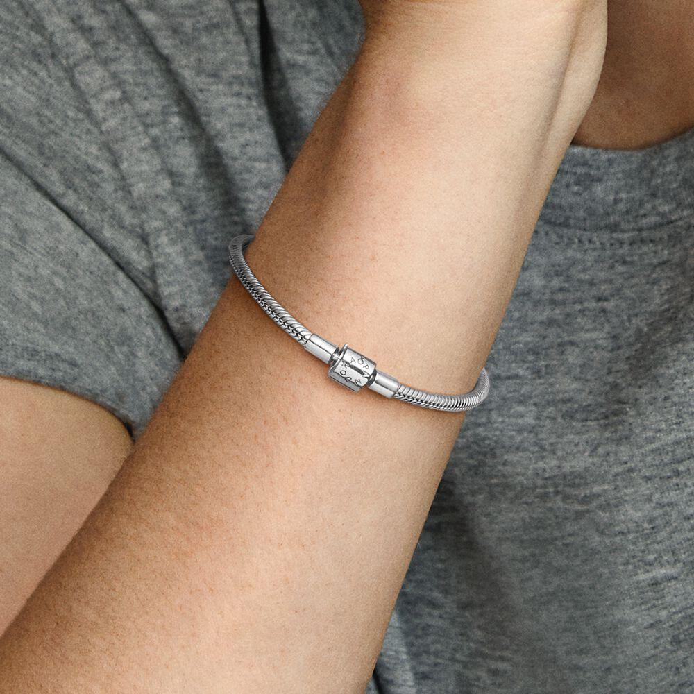 Pandora Moments Barrel Clasp Snake Chain Bracelet Sterling Silver Pandora Us