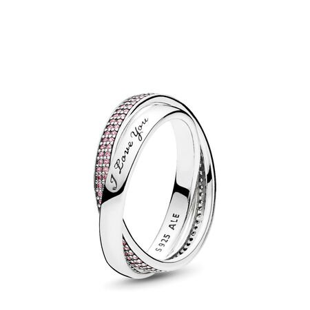 Sweet Promise Ring, Pink CZ, Sterling silver, Pink, Cubic Zirconia - PANDORA - #196546PCZ-60