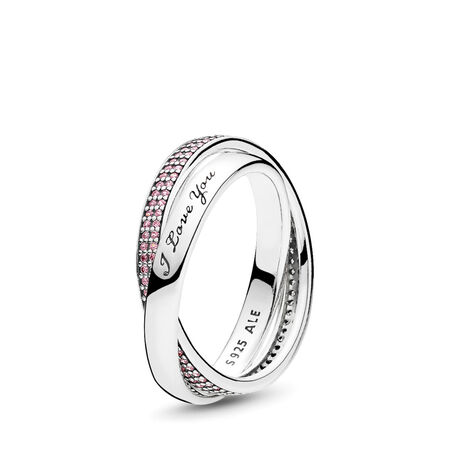 Sweet Promise Ring, Pink CZ, Sterling silver, Pink, Cubic Zirconia - PANDORA - #196546PCZ