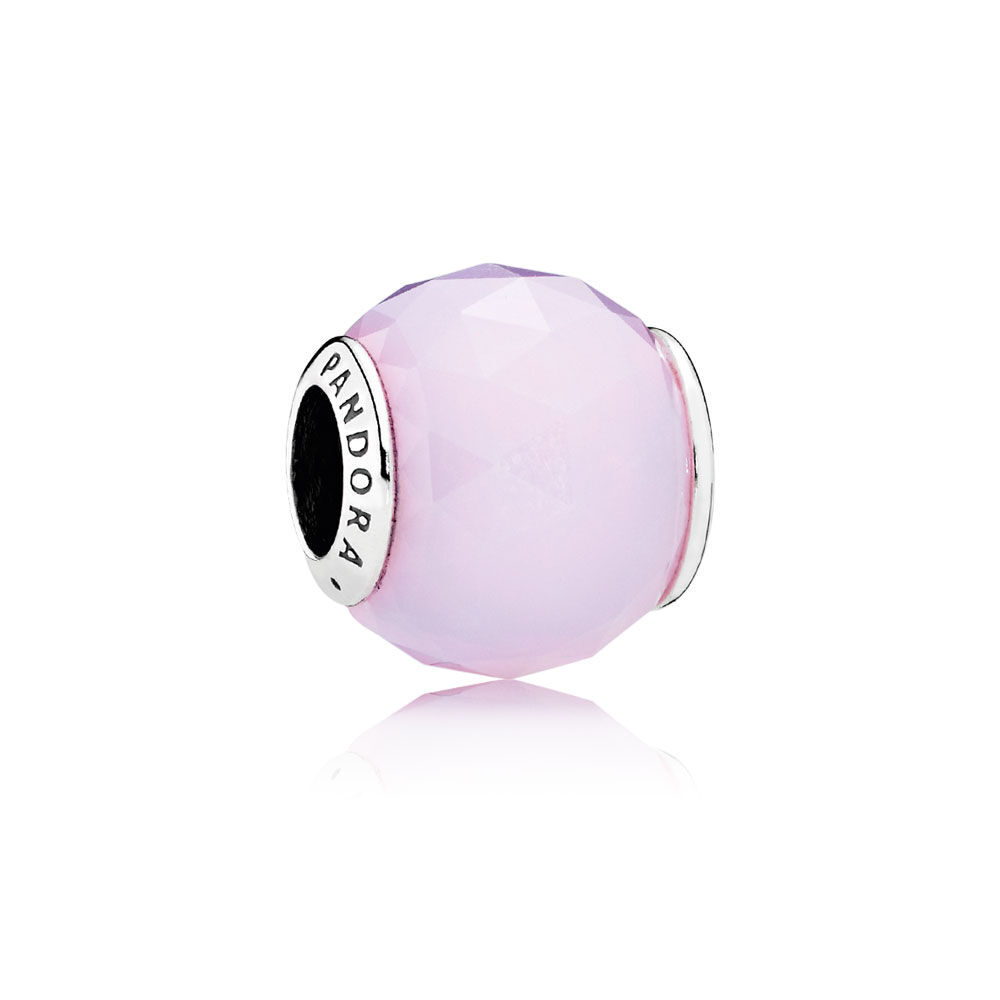 Geometric Facets Charm Opalescent Pink Crystal Pandora