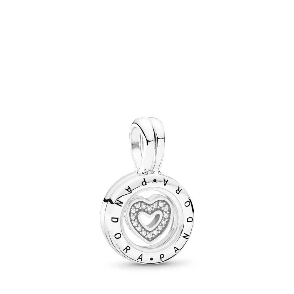 8585141ac PANDORA Floating Locket, Sapphire Crystal Glass & Clear CZ, Sterling  silver, Glass,