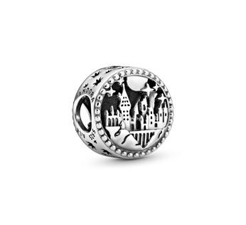 Harry Potter, Hogwarts School of Witchcraft and Wizardry sterling silver charm