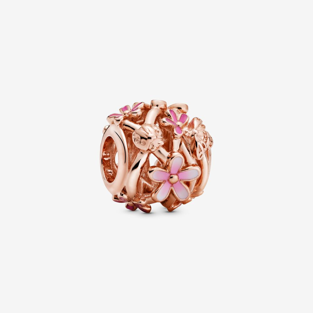 charms rosa pandora