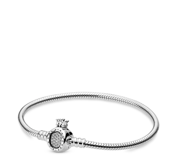 Pandora Moments Crown O & Snake Chain Bracelet