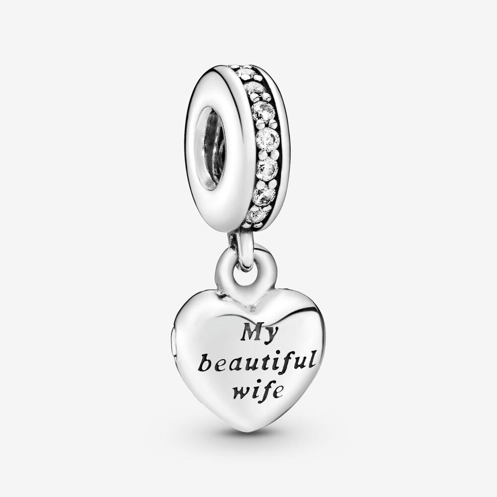My Beautiful Wife Dangle Charm | Sterling silver | Pandora US