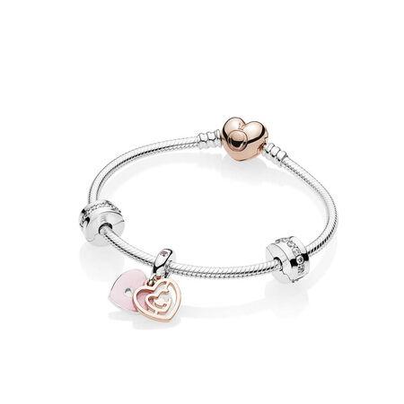 """""""Fun In Love"""" Bracelet Gift Set, PANDORA Rose, Enamel, Pink, Cubic Zirconia - PANDORA - #B801110"""