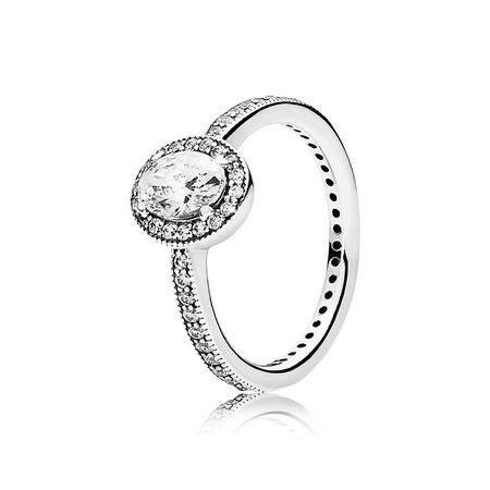 Vintage Elegance Ring, Clear CZ