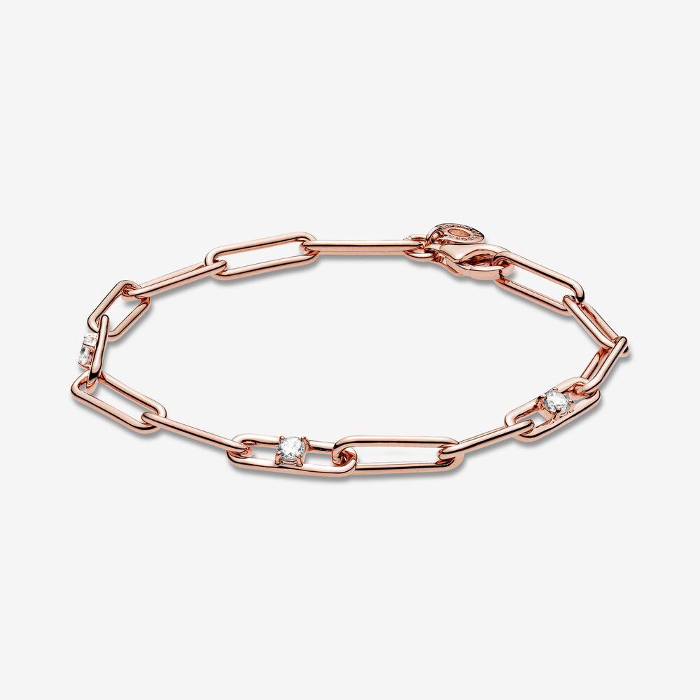 Link Chain & Stones Bracelet - FINAL SALE   Rose gold plated ...