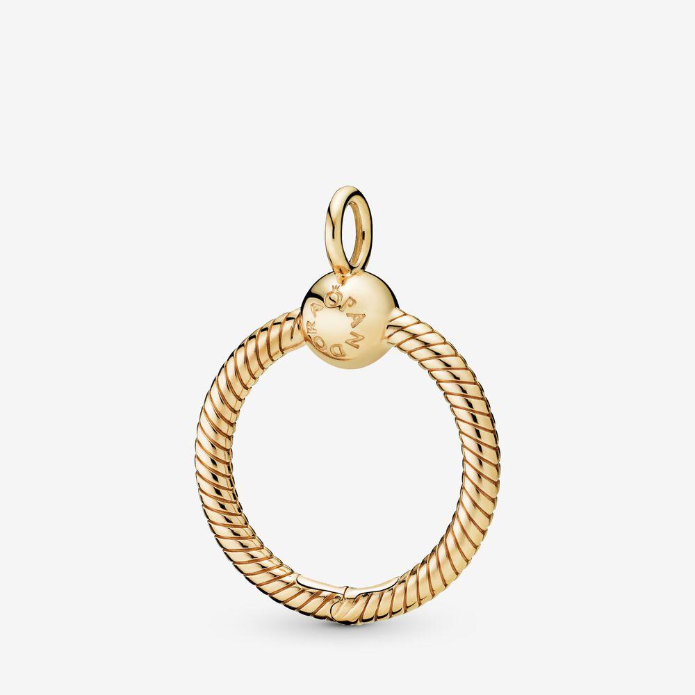 Pandora Moments Small O Pendant | Gold plated | Pandora US