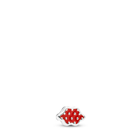 Disney, Minnie Skirt Petite Locket Charm, Red Enamel, Sterling silver, Enamel, Red - PANDORA - #796519EN09