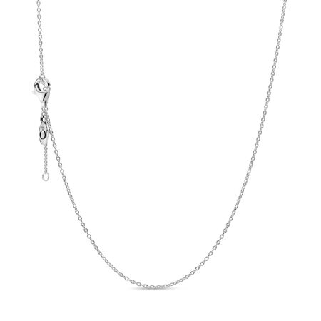 Classic Cable Chain Necklace, Sterling silver - PANDORA - #590515