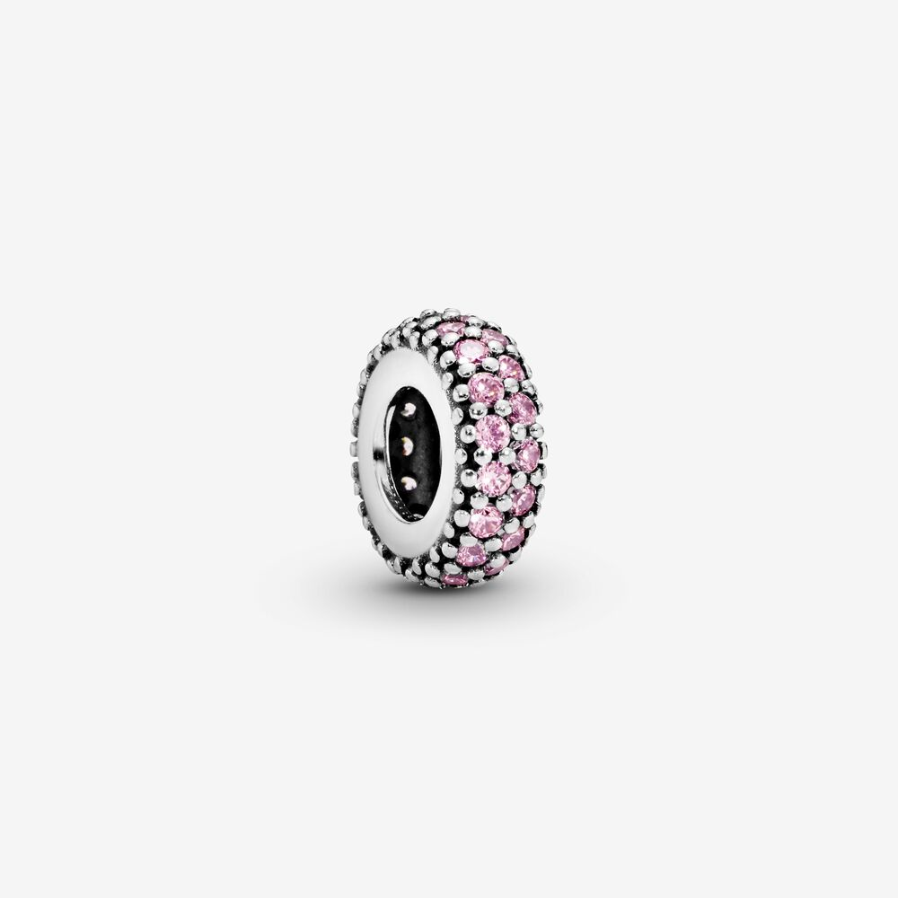 Pink Sparkle Spacer Charm