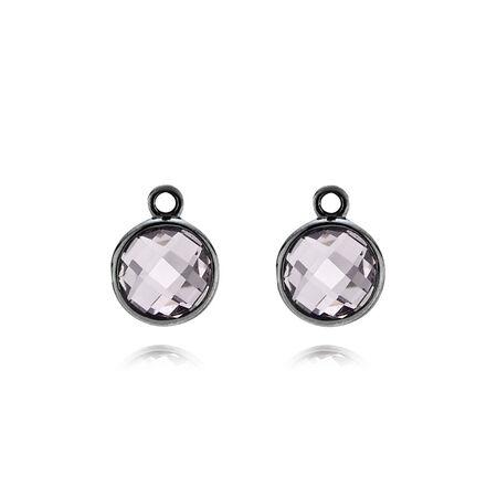Elegance, light color amethyst, Sterling Silver Oxidised, Purple, Amethyst - PANDORA - #290662PAM