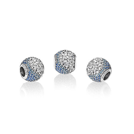 Blue Enchanted Pavé Charm, Blue & Clear CZ