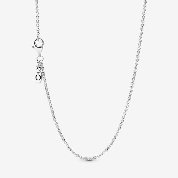 Adjustable Sterling Silver Chain Necklace Sterling Silver Pandora Us