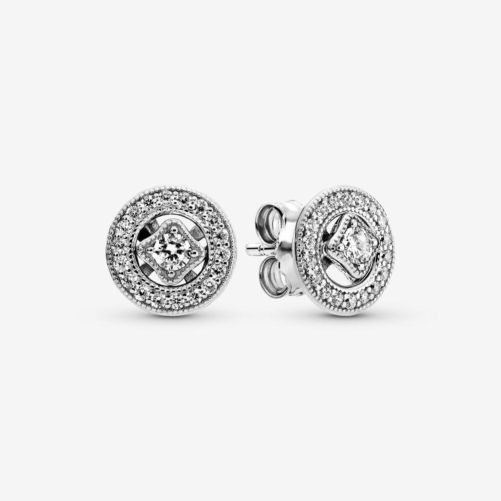 Vintage Circle Stud Earrings