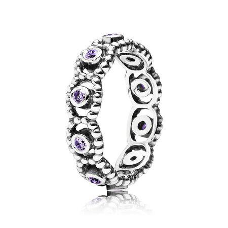 Her Majesty Ring, Purple CZ
