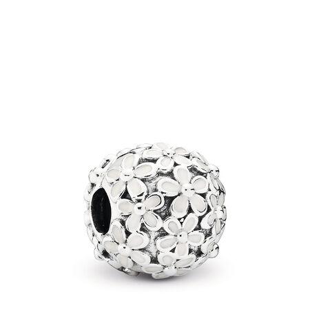 59b24c56a Darling Daisy Meadow Clip, White Enamel, Sterling silver, Enamel - PANDORA  - #