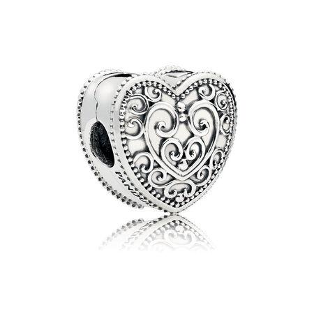 Enchanted Heart Clip Pandora Jewelry Us
