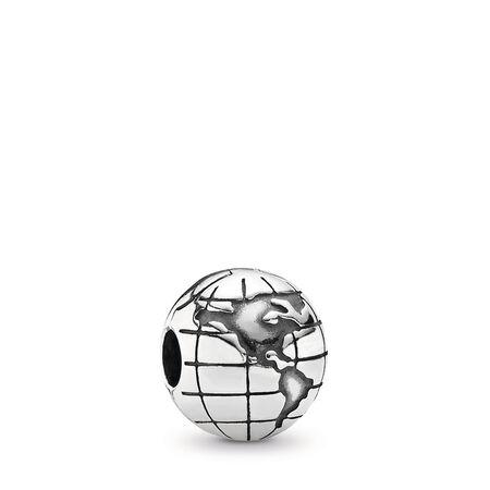 Globe Clip, Sterling silver - PANDORA - #791182