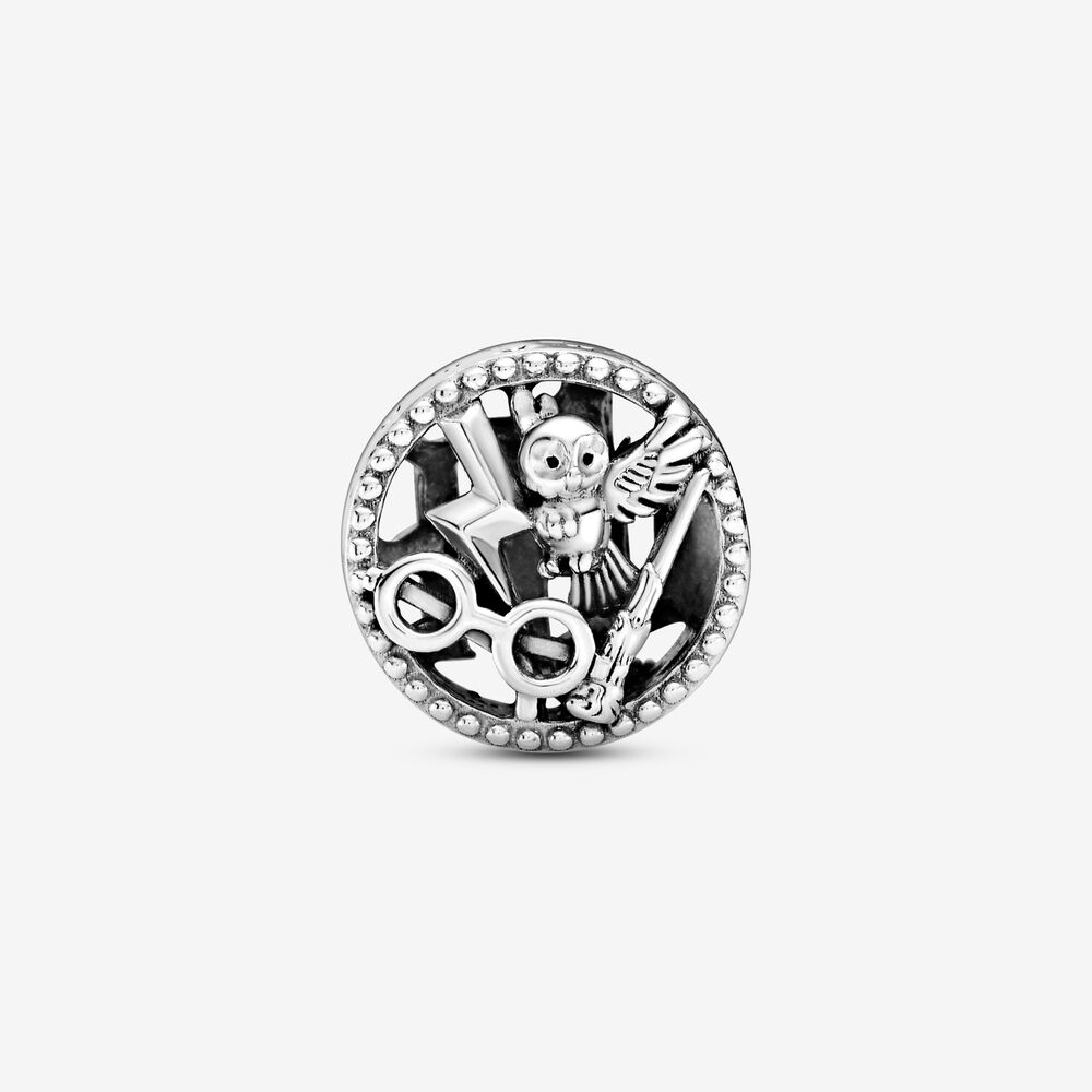 Harry Potter, Openwork Harry Potter Icons Charm   Sterling silver ...