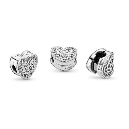 Enchanted Heart Clip, Sterling silver - PANDORA - #797024