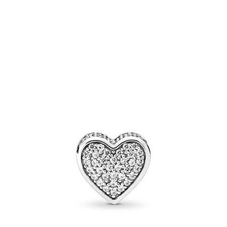 LOVE Charm, Clear CZ, Sterling silver, Silicone, Cubic Zirconia - PANDORA - #796084CZ