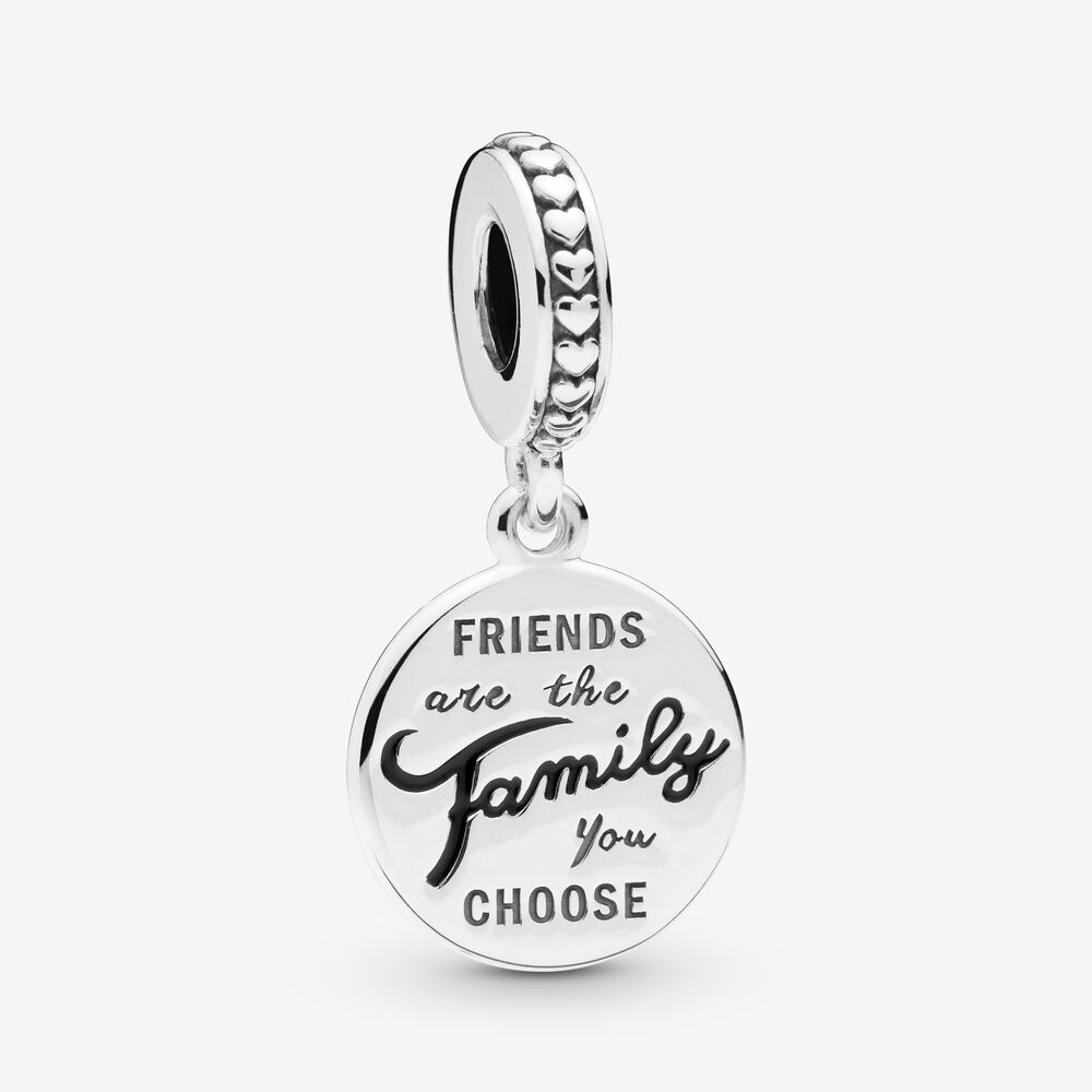 Friends Are Family Dangle Charm | Sterling silver | Pandora US