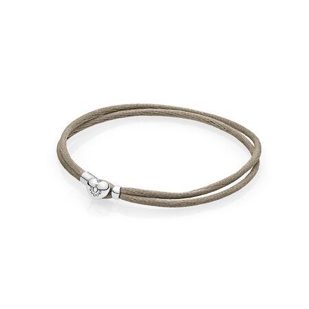 Fabric Cord Bracelet, Grey Green