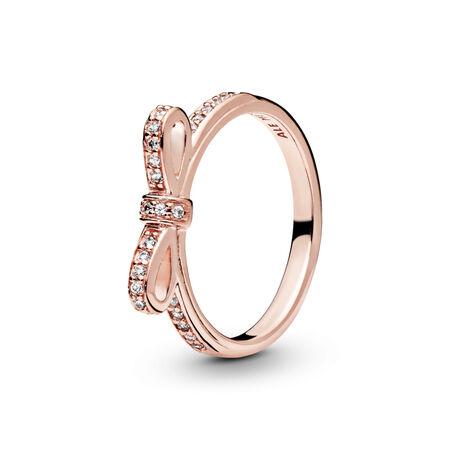 bd816379bbbbb Sparkling Bow Ring in Pandora Rose | Pandora Jewelry US