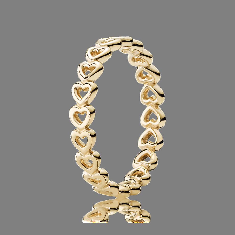 Linked Love Ring 14K Yellow Gold PANDORA Jewelry US