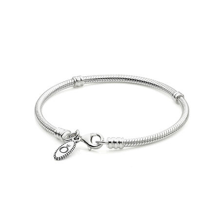 Silver Charm Bracelet With Lobster Clasp