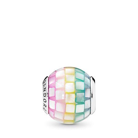 Multi-Color Mosaic Charm, Multi-Colored CZ
